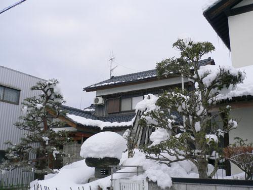 融雪施工例 福井県大野市