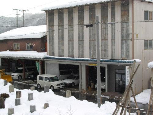 融雪施工例 長浜市高山町